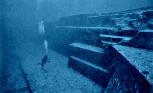 Yonaguni - underwater monument off the coast of Japan